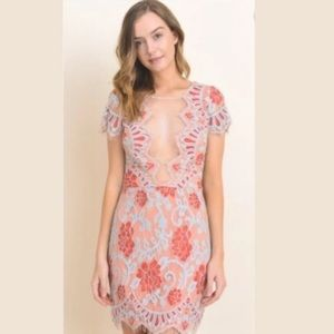 Storia lace illusion dress